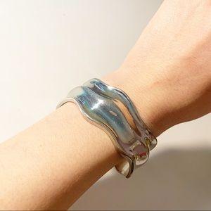 Wavy Metal Cuff Bracelet